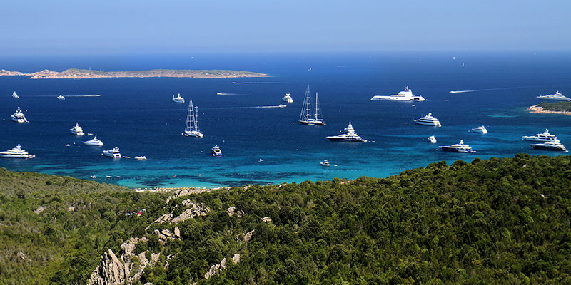 A panoramic view of Costa Smeralda